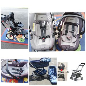 Car Seats & Strollers- located in Branford -Price is on Pictures for Sale in Branford, CT