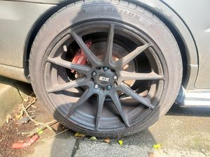 Wrx 5x100 wheels and tires for Sale in Columbia, MD