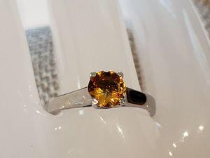 14KWG Natural Orange Sapphire Solitaire for Sale in Leavenworth, WA