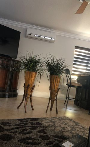 Bamboo stand with plant for Sale in Fort Lauderdale, FL
