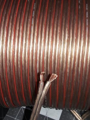 Premium 12 gauge speaker wire polorized 25 FEET x1 roll for Sale in Vernon, CA