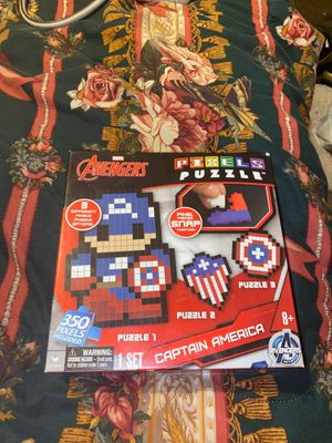 Avengers captain America pixel puzzle for Sale in Overland, MO