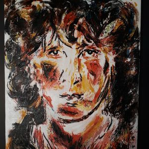 Jim Morrison Oil painting Canvas for Sale in Garland, TX
