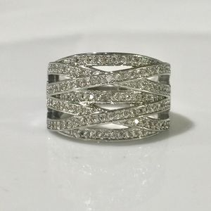 White gold plated wrap layers ring band jewelry for Sale in Silver Spring, MD