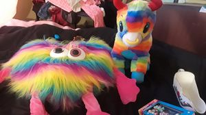 Rainbow stuffed animals $5 for both for Sale in Stockton, CA