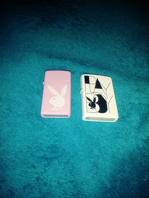 Playboy bunny pink then one white zippo lighters for Sale in McIntosh, NM