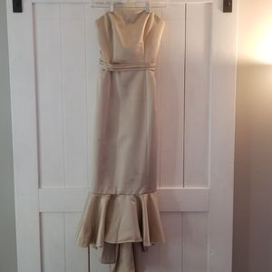 Gold High Low Mermaid Dress Size 10 for Sale in Manchester, CT