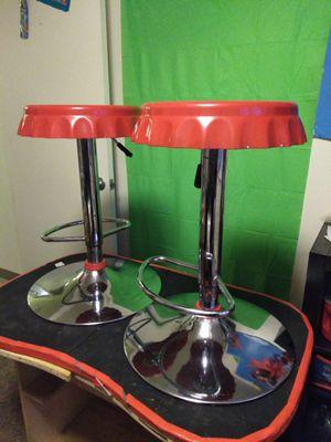 Set of bottle cap bar stools. Full size. Coca Cola red. for Sale in Everett, WA