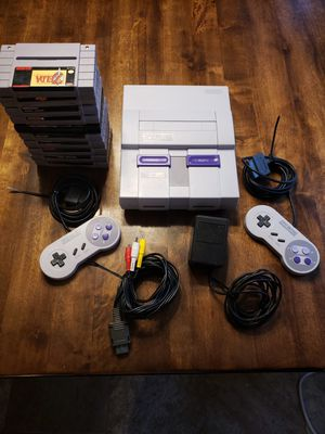 Super Nintendo with 10 games for Sale in Glen Raven, NC