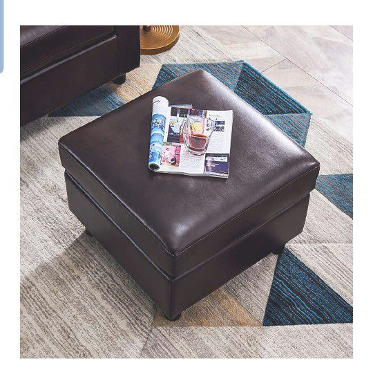 Convertible Sectional Sofa Couch Leather L-Shape Couch with Modern Faux Leather Sectional for Small Space Apartment Brown
