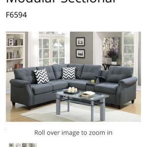 $699 This elegant modular sectional sofa is unique because of its contemporary design and thoughtful features. It contains plentiful seating on the le for Sale in Chino, CA