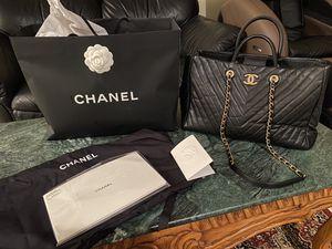 Authentic Chanel purse Blk shopping tote for Sale in Falls Church, VA