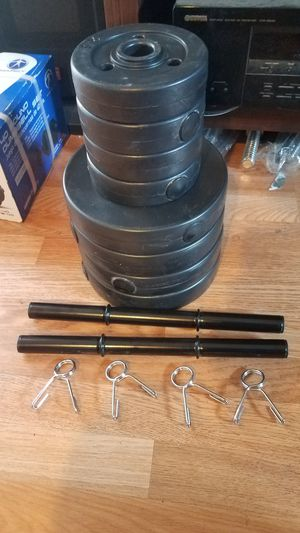 2x20 pound adjustable dumbbells 4x7.5-4x2.5 for Sale in Montebello, CA