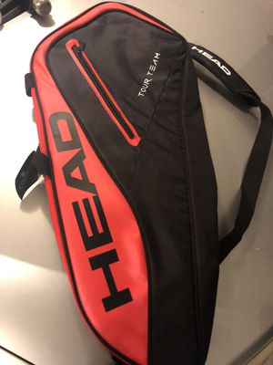 Head tennis bag holds 3 rackets for Sale in Snellville, GA