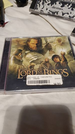 Lord of the rings the return of the king sound track new for Sale in La Mirada, CA
