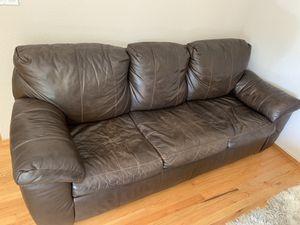 Leather futon sofa $100 for Sale in Benicia, CA
