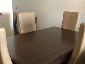 Wooden dining table with 4 chairs for Sale in Salt Lake City, UT