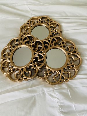 Round Small Gold Mirror Set for Sale in Bellingham, WA