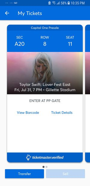Lover Fest East Taylor Swift July 31, 2019 for Sale in Irvine, CA