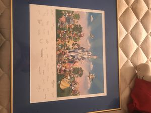 Party at the castle rare limited edition 2001 disney print for Sale in Frederick, MD