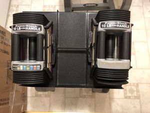 Powerblock 10-50lbs dumbbells with pro rack for Sale in Fairfax, VA