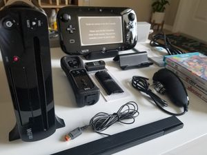 Wii U Deluxe Version with games and toys for Sale in Miami, FL