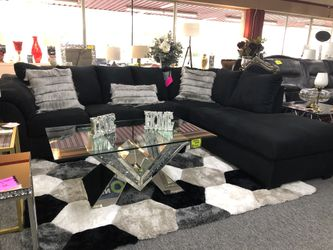 Black Fabric Sectional VE for Sale in Irving,  TX