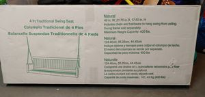 Porch swing new in box 4ft wide Natural Wood for Sale in Attleboro, MA