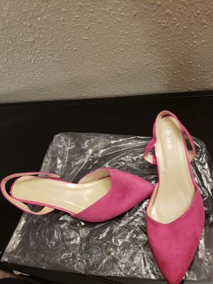 Pink slingback low heel shoe - sz. 10 - New for Sale in Suitland-Silver Hill, MD