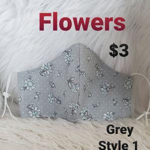 Flowers, Grey Face masks for Sale in La Mirada, CA
