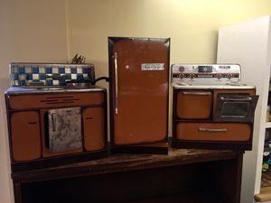 Vintage tin kitchen play set for Sale in Alexandria, VA