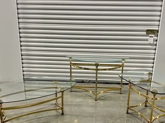 MCM Brass & Glass Shell Table Set. for Sale in Portland,  OR