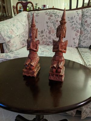 HAND CARVED TEAK WOOD THE PHANOM TEMPLE GUARDS for Sale in Palmetto, FL