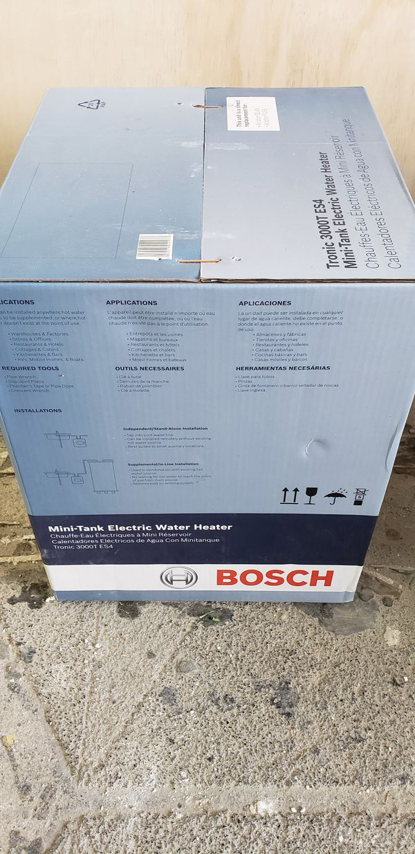 Electric water heater, Bosch 3000 ES4