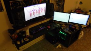 Curved Monitor with Gaming PC for Sale in Mesa, AZ