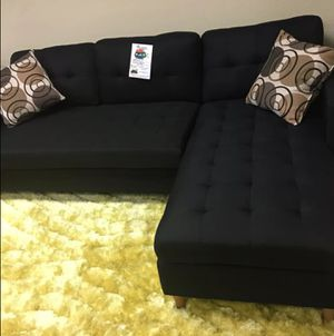 Brand New Black Linen Sectional Sofa Couch for Sale in Arlington, VA