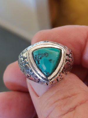 Silver plated turquoise ring size 9 for Sale in Tempe, AZ