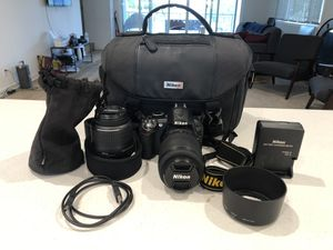 Nikon D3100 With Lenses and Case for Sale in Costa Mesa, CA