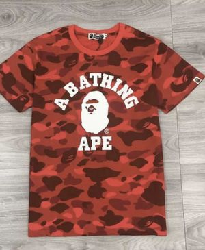 Red Authentic Bape Shirt for Sale in Puyallup, WA