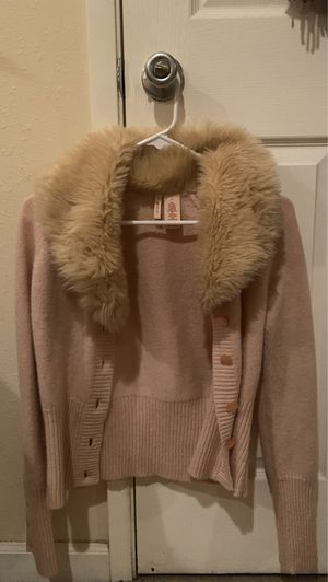 Faux fur cardigan button up for Sale in Portland, OR