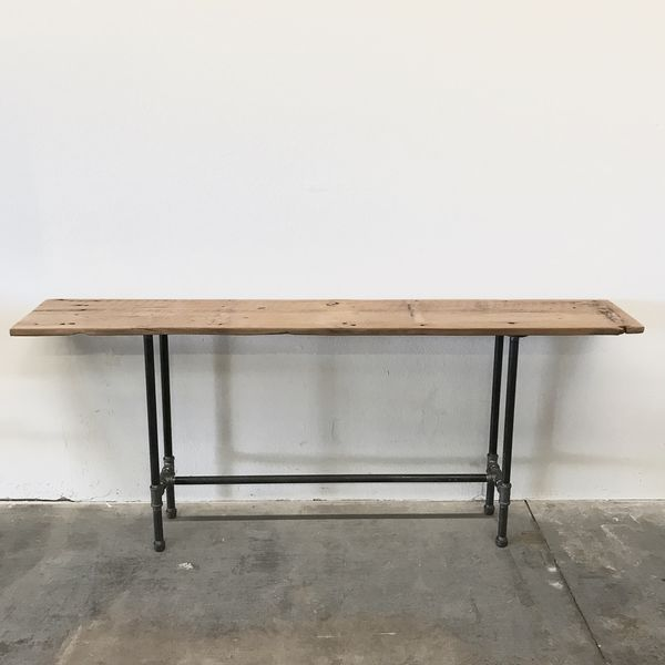 """Henry Reclaimed Wood Console Table 72"""" Sofa Table Modern Rustic Farmhouse  Industrial for Sale in Phoenix, AZ - OfferUp"""