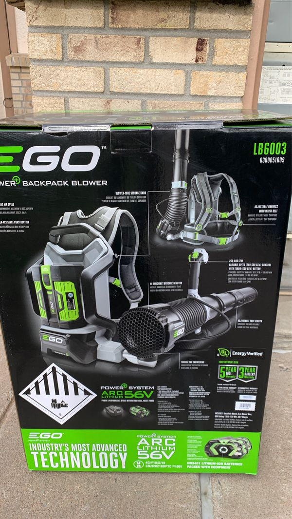 600 cfm backpack cordless blower with battery and charger