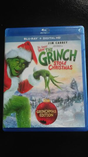 The grinch Blueray only for Sale in Los Angeles, CA