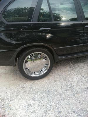 "Chrome metallic rim and tires good ""22 for Sale in Morrow, GA"