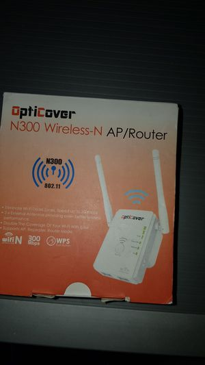 ROUTER OPTICOVER N300 WIRELESS-N NEW for Sale in Victorville, CA
