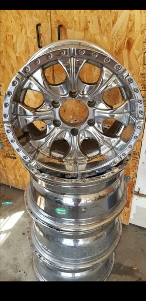 16s Chrome HELO Truck/Car Rims for Sale in Lafayette, CO