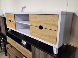 TV Stand, White and Weathered for Sale in Garden Grove, CA