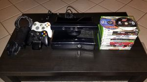 Xbox 360 Slim, Kinect, Rechargeable Controllers + 13 Games for Sale in Escondido, CA
