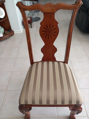 Antique Chippendale Style Desk Chairs with Ball and Claw Feet Rosette Inlay back design for Sale in Boynton Beach, FL