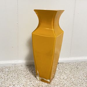 Orange Glass Vase for Sale in Hampton, VA